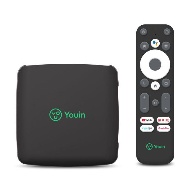 Receptor Android TV 4K You-Box 2GB+8GB Negro